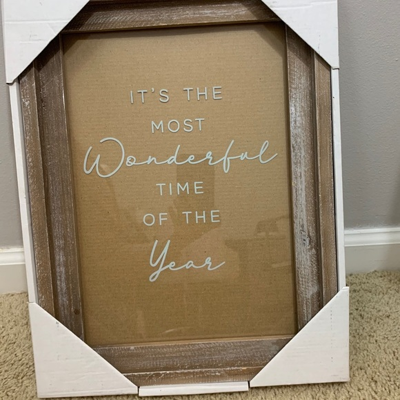 """""""It's the Most Wonderful time of the Year"""" frame"""